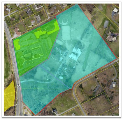 spencerville church property map including new horse farm property