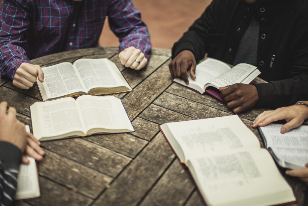 community of people coming together to study their bibles