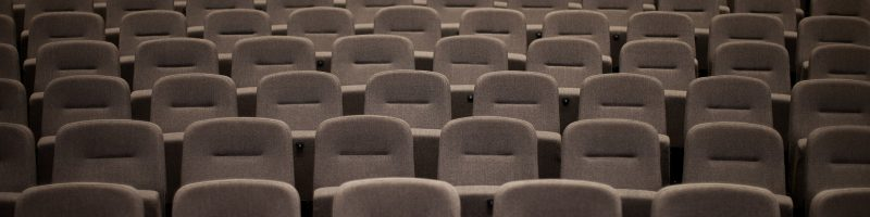 empty chairs in a church or concert hall