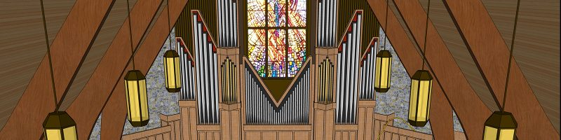 spencerville sanctuary organ platform project rendering