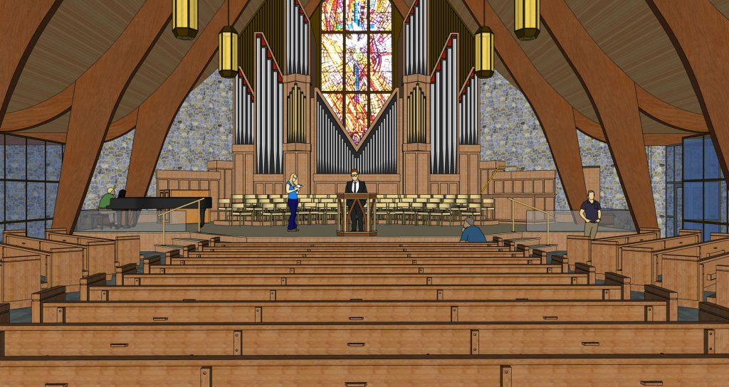 sanctuary revised design center view
