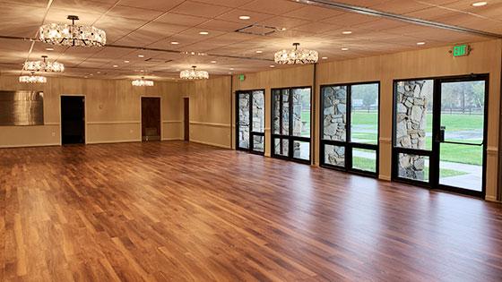 Fellowship Hall flooring replaced with luxury vinyl plank