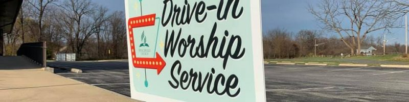 drive-in worship service at Spencerville Seventh-day Adventist Church in silver spring, MD